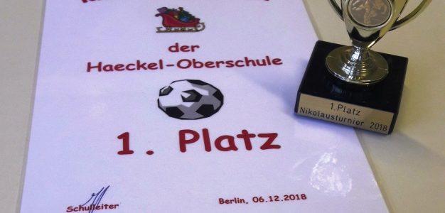 Peter-Pan-Grundschule gewinnt Nikolausturnier